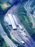 Picture showing Corkerhill Traction Maintainance Depot from the air.<br><br>[Colin Harkins&nbsp;08/06/2008]