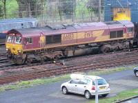 EWS 66183 passing the Craigentinny wheel lathe on 6 January 2007 with a load of imported coal off the branch from Leith Docks destined for Cockenzie power station.<br><br>[Mark Poustie&nbsp;06/01/2007]
