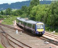 The 1118 service from Glasgow Queen Street takes the Alloa line at Stirling North on 12 June.<br><br>[John Furnevel&nbsp;12/06/2008]