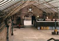 Part of the main concourse of the 1882 NER station at Tynemouth, seen here in May 1981.  The station has since been beautifully restored and now hosts weekend indoor markets, a very nice Italian restaurant and of course the Tyne & Wear Metro! [see image 30376]<br><br>[Colin Alexander&nbsp;16/05/1981]