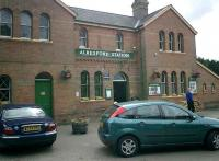 Alresford Station building and forecourt on the former L&SWR Watercress Line.<br><br>[Alistair MacKenzie 18/06/2008]