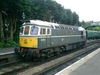 Class 33 No 6593 at Alresford on the former L&SWR Watercress Line in June 2008.<br><br>[Alistair MacKenzie 18/06/2008]