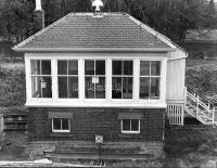 Newburgh signal box - late 1970s.<br><br>[Bill Roberton&nbsp;//]