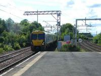 An emu off the Ayr line runs into Gilmour Street on 14 June en route to Glasgow Central. On the right are the lines to Wemyss Bay and Gourock.<br><br>[Veronica Inglis&nbsp;14/06/2008]