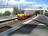 320 314 leaving Helensburgh Central on 31 May 2008.<br><br>[John McIntyre&nbsp;31/05/2008]