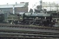 Jubilee 45697 <I>Achilles</I> stands in the carriage sidings outside Buchanan Street station in 1962. <br><br>[Colin Miller&nbsp;//1962]