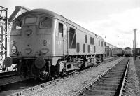 View south along the stabling roads on the west side of Perth station in 1971. Class 24 no 5072 stands nearest the camera with a class 25 and a class 50 in the background.<br><br>[Bill Roberton&nbsp;//1971]