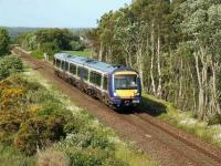 First ScotRail 170394 heads south near Daviot on 26 June. <br><br>[John Gray&nbsp;26/06/2008]