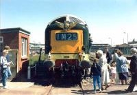 Deltic D9000 <I>Royal Scots Grey</I> on display at Rosyth Dockyard on 21 June 1982 during <I>Navy Days</I>.<br><br>[Grant Robertson&nbsp;21/06/1982]
