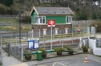Entrance to Seamer station on 3 April 2008. Note the absence of a footbridge, with passengers gaining access to the island platform via the level crossing over the down line.<br><br>[John Furnevel&nbsp;03/04/2008]