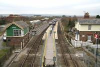 Looking south from the road bridge over Seamer station on 3 April. In the distance is Seamer West Junction and the split of the lines for Hull and York.<br><br>[John Furnevel&nbsp;03/04/2008]