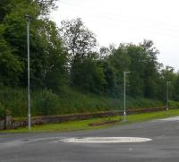 The long drive from the A9 dual carriageway to Gleneagles station will have street lighting shortly. Also in the picture is a section of old bullhead crossing.<br><br>[Brian Forbes&nbsp;27/06/2008]