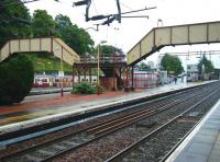 View east over Dalmuir station on Saturday 28 June 2008.<br><br>[Veronica Inglis&nbsp;28/06/2008]