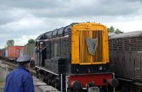 The Cholsey & Wallingford Railway has three class 08 shunters, two from the Guinness Brewery. This one, numbered 060, was photographed at Wallingford on 29 June.<br><br>[Peter Todd&nbsp;29/06/2008]