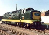 Classic view of Deltic D9000 <i>Royal Scots Grey</I> at Rosyth <I>Navy Days</I> in June 1972<br><br>[Grant Robertson&nbsp;21/06/1982]