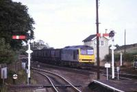A class 60 takes a MGR train southwest through Barnetby in 1992.<br><br>[Ian Dinmore //1992]
