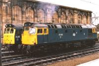 27012 and 25192 in the sidings alongside Carlisle station in 1986.<br> <br><br>[Colin Alexander&nbsp;//1986]