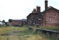 The abandoned Horncastle station in deepest Lincolnshire, photographed in 1977. The former terminus, serving the town known for its book and antique shops, closed in 1954.  <br><br>[Ian Dinmore&nbsp;//1977]