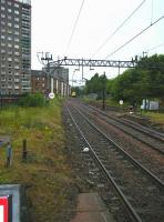 View west from Dalmuir station on 8 June 2008.<br><br>[Veronica Inglis&nbsp;08/06/2008]