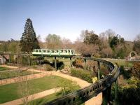 Monorail operating in the grounds of the Beaulieu Motor Museum in April 2003.<br><br>[Alistair MacKenzie&nbsp;04/04/2003]