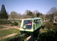 Monorail allowing a scenic view of the Beaulieu Motor Museum grounds.<br><br>[Alistair MacKenzie&nbsp;04/04/2003]