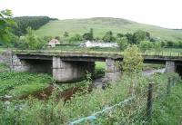 Another of the many bridges that will require attention prior to the reopening of the northern section of the Waverley route. This particular example spans the Gala Water near Fountainhall - seen here looking east towards the A7 on 8 June 2007.<br><br>[John Furnevel&nbsp;08/06/2007]