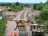 Progress at Bathgate - view west on Sunday 13 July.<br><br>[James Young&nbsp;13/07/2008]