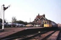 A DMU stands at the branch terminus at Southminster in 1979.<br><br>[Ian Dinmore&nbsp;//1979]