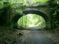 Blane Valley - Bridge for middle entrance access to former Lennox Castle Hospital.<br><br>[Alistair MacKenzie 15/07/2008]