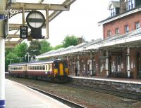 The 1239 Newcastle - Stranraer service arriving at Dumfries on 20 May 2008.<br><br>[John Furnevel&nbsp;20/05/2008]