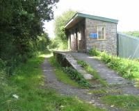 Remains of Meeth Halt station on 3 July 2008, standing alongside the A386 road between Okehampton and Great Torrington.<br><br>[John McIntyre&nbsp;03/07/2008]