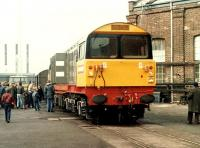 A brand new 58001 stands a Doncaster Works in 1983.<br><br>[Colin Alexander&nbsp;//1983]
