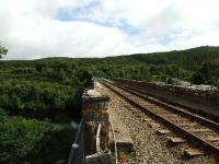 Looking north along the top of the Oykel/Shin Viaduct.<br><br>[John Gray&nbsp;17/07/2008]