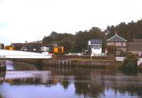 37408 <I>Loch Rannoch</I> crossing Clachnaharry Swing Bridge in July 1991 with a service to Wick and Thurso.<br><br>[Ian Dinmore&nbsp;11/07/1991]