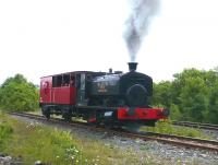 Former NCB Ayrshire Area No 10 providing brake van trips at Dunaskin on the former Waterside complex on 29 June 2008. [The locomotive was built by Andrew Barclay in Kilmarnock as AB2244 in 1947.]<br><br>[Colin Miller&nbsp;29/06/2008]