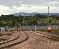 View east over the ongoing works at Bathgate on Sunday evening 20 July 2008.<br><br>[James Young&nbsp;20/07/2008]