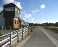 The former Fremington station, now Fremington Quay Heritage Centre and cafe. Opened on 1 September 2001 this view looking west along the trackbed towards Instow was taken on 3 July 2008.<br><br>[John McIntyre&nbsp;03/07/2008]