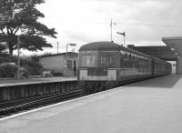An Eastbound DMU calls at Corkerhill station en route to St Enoch  in 1963.<br><br>[Colin Miller&nbsp;//]