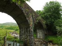 A shot of the metal reinforcing rods attached to the viaduct which is marked as bridge No 130 half way between Luib and Killin Junction.<br><br>[John Gray&nbsp;23/07/2008]