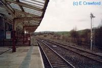 Hellifield looking west from the eastbound platform.<br><br>[Ewan Crawford&nbsp;//]