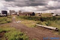 The site of the former Shotts Ironworks was to the left. The view looks north along the former trackbed of the railway.<br><br>[Ewan Crawford&nbsp;//]