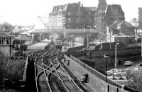 View south towards Ayr station in September 1980.<br><br>[John Furnevel&nbsp;27/09/1980]