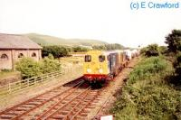 Two class 20s run north past Silecroft signalbox with a nuclear train for Sellafield.<br><br>[Ewan Crawford&nbsp;//]