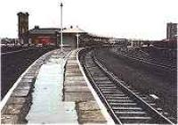 Looking north at Kilmarnock in the 1980s. Not the recently lifted bay platform track to left.<br><br>[Ewan Crawford&nbsp;//]