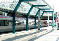 The enhanced canopy at the north end of Carlisle platform 1 in the summer of 2002.<br><br>[John Furnevel&nbsp;12/06/2002]