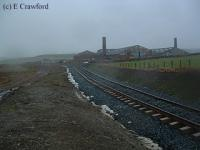 Looking west at the Fordmouth Brickworks. The Greenburn line has been re-instated.<br><br>[Ewan Crawford&nbsp;//]