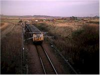 Edinburgh bound train leaves the North Berwick branch. The ECML is on the right.<br><br>[Ewan Crawford&nbsp;//]