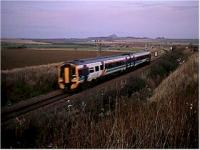 DMU comes off the North Berwick Branch heading for Edinburgh.<br><br>[Ewan Crawford&nbsp;//]