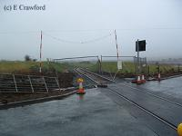 Woodend Level Crossing looking east after re-opening of the Greenburn Branch but before opening.<br><br>[Ewan Crawford&nbsp;//]