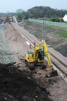 Chatelherault station construction continues.<br><br>[Ewan Crawford&nbsp;03/04/2005]